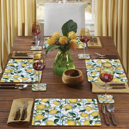 Seville Lemon 4 pack placemats