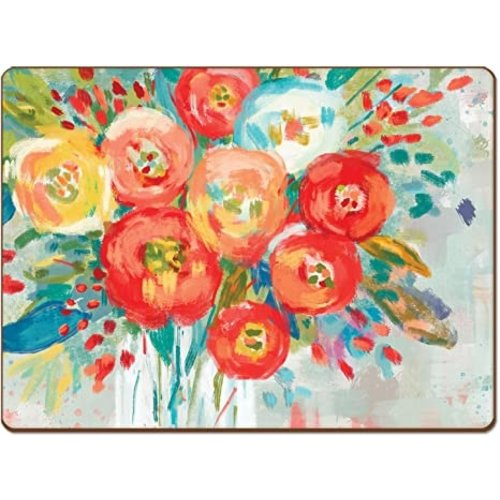 Coral Floral 4 Pack Placemats