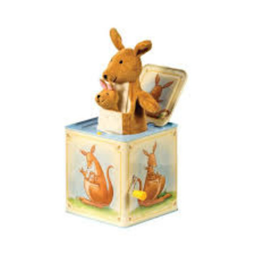 Schylling Kangaroo Jack in Box With Baby Kangaroo Finger Puppet