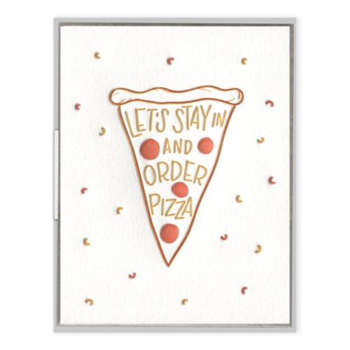 Stay in For Pizza Card