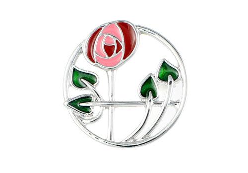 Mackintosh Rose in Circle Brooch