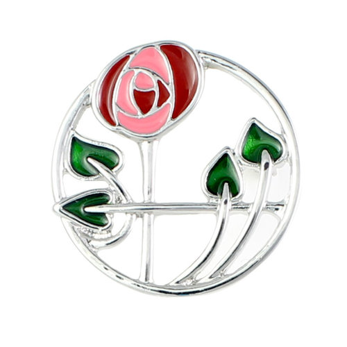 Mackintosh Rose in Circle Brooch
