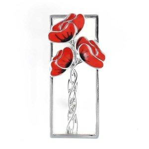Mackintosh-Style Poppy Brooch