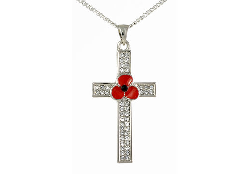 Peace Poppy Cross Pendant
