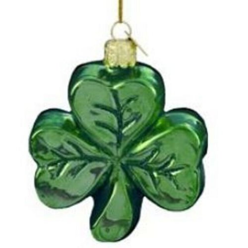 Kurt Adler Noble Gems by Kurt S. Adler Shamrock Ornament