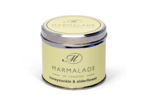 Marmalade of London Honeysuckle & Elderflower Tin Candle