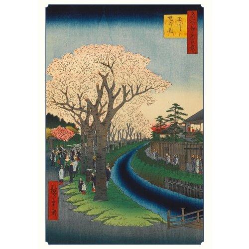 Pomegranate Hiroshige Cherry Blossoms Notecards
