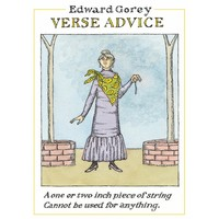 Edward Gorey Verse Advice Notecards