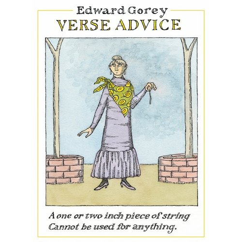 Pomegranate Edward Gorey Verse Advice Notecards