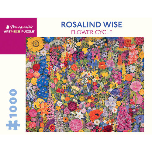 Pomegranate Rosalind Wise Flower Cycle 1000 Piece Puzzle