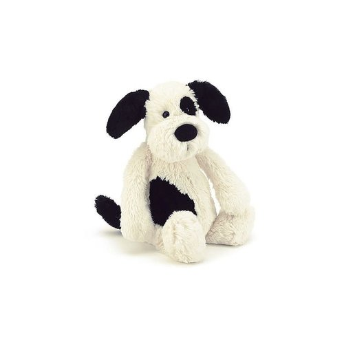 Jellycat Bashful Black and Cream Puppy Small