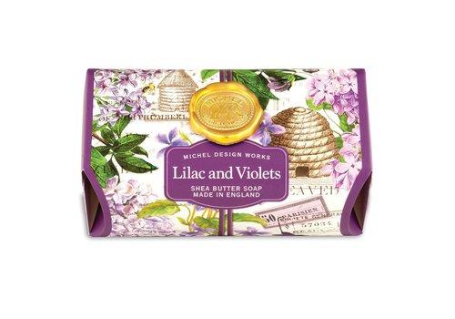 Michel Design Works Lilac and Violets Large Bath Soap Bar