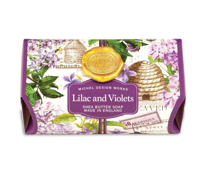 Lilac and Violets Large Bath Soap Bar