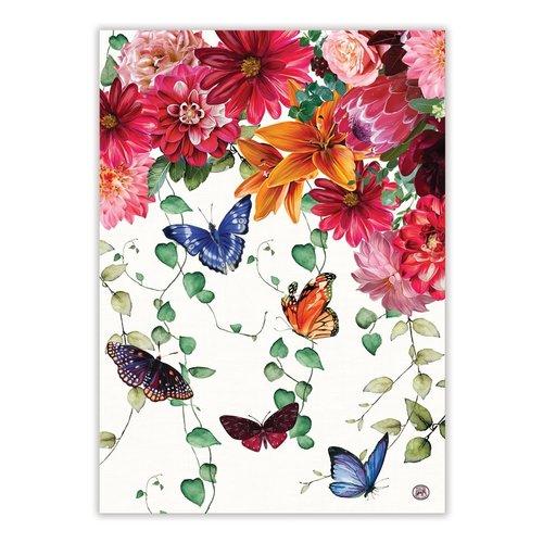 Michel Design Works Sweet Floral Melody Kitchen Towel