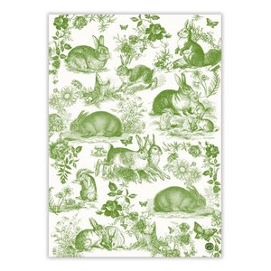 Michel Design Works Bunny Toile Kitchen Towel