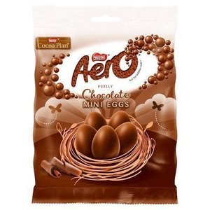 Nestle Aero Chocolate Mini Egg Bag 70g