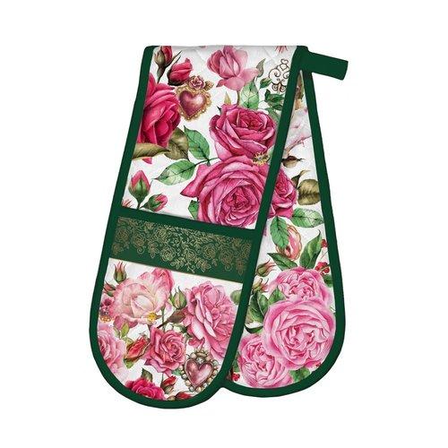 Michel Design Works Royal Rose Double Oven Mitt