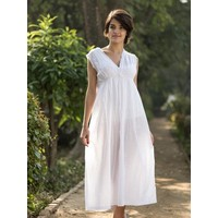 Cambric White Francoise Nighty