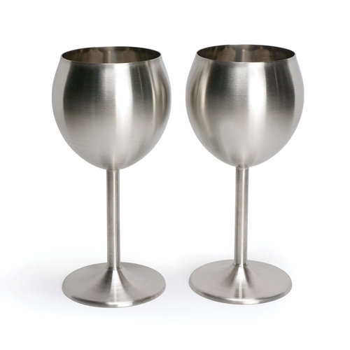 Metal Wine Glass Set of 2