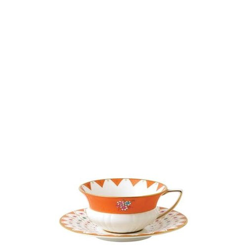 Wedgwood Peony Diamond Teacup and Saucer