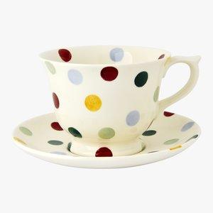 Emma Bridgewater Emma Bridgewater Polka Dot Large Teacup & Saucer