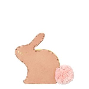Meri Meri Leather bunny coin purse