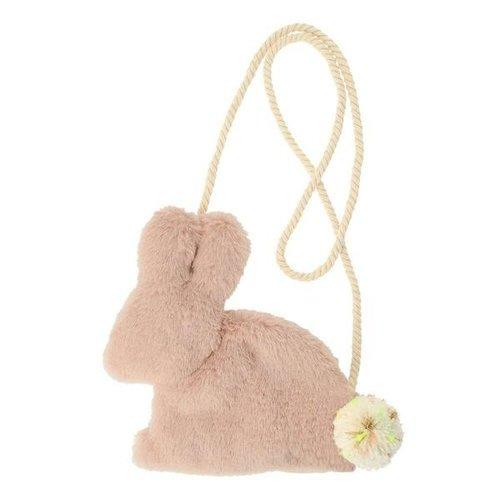 Meri Meri Pink Plush bunny bag