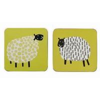 Dotty Sheep corked coaster