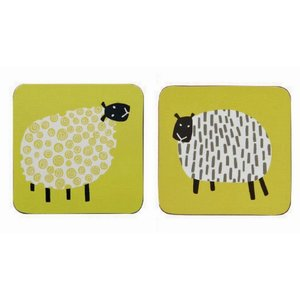 Ulster Weavers Dotty Sheep corked coaster