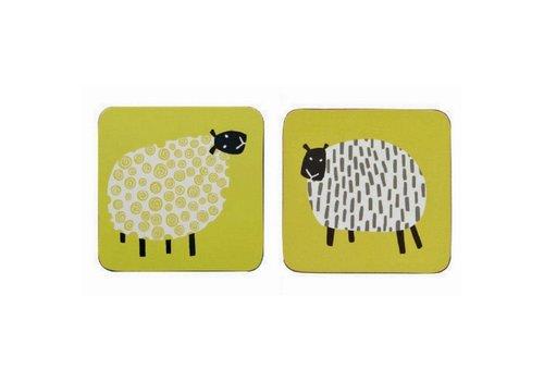 Ulster Weavers Dotty Sheep corked coaster