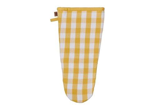 Ulster Weavers Yellow Gingham Gauntlet/ Oven Mitt