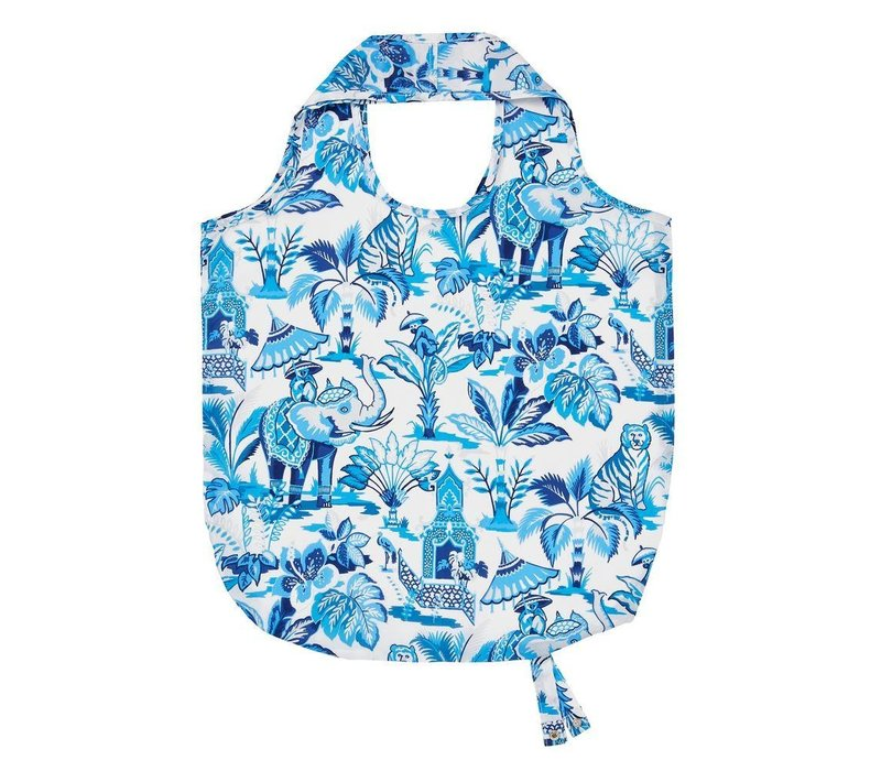 India blue roll-up bag