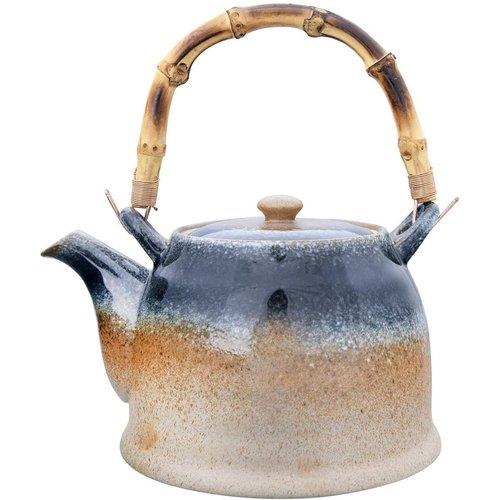 Ceramic teapot w/ Reactive glaze