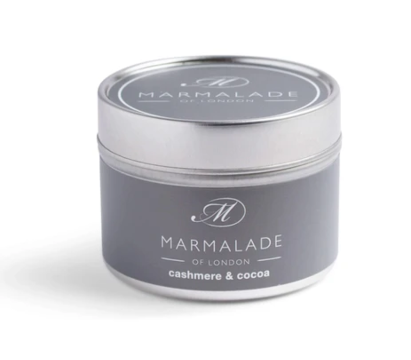 Cashmere and Cocoa Small Tin Candle