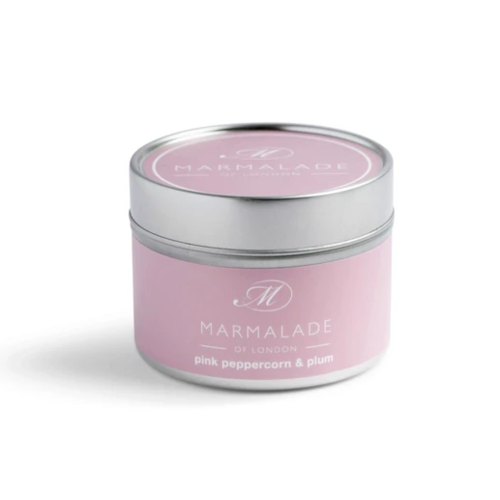 Marmalade of London Pink Peppercorn and Plum Small Tin Candle