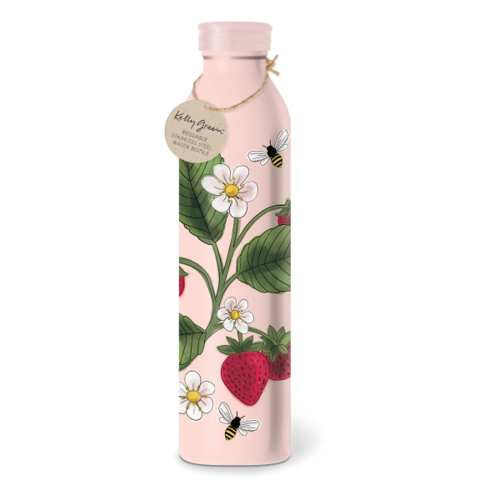 Punch Studios Orchard Strawberry stainless steel bottle