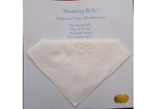 Traditional Linen Wedding Bells Embroidery