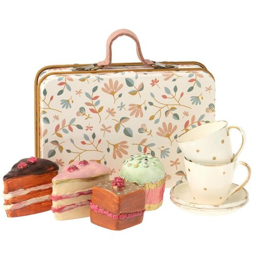 Maileg Maileg Suitcase with Cakes and Cups