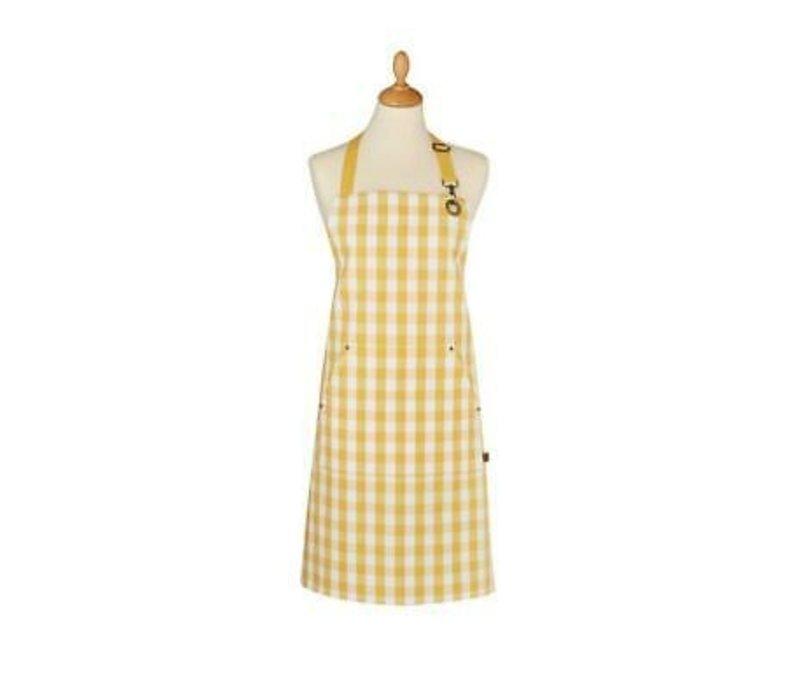 Apron Cotton Yellow Gingham