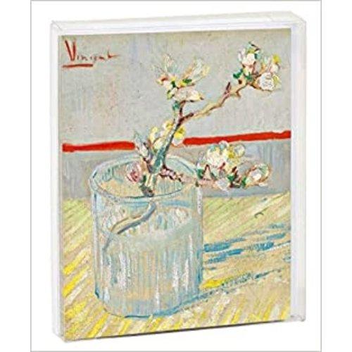 "Van Gogh ""Sprig of a Flowering Almond in a Glass"" Notecards"