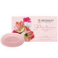 Pink Bouquet Luxury English Soap Set of 3