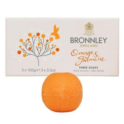 Bronnley Orange and Jasmine Soap Set of 3