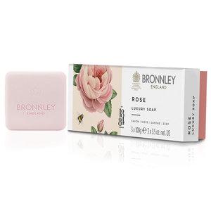 Bronnley Rose  Triple Milled Soap 3x100g Box