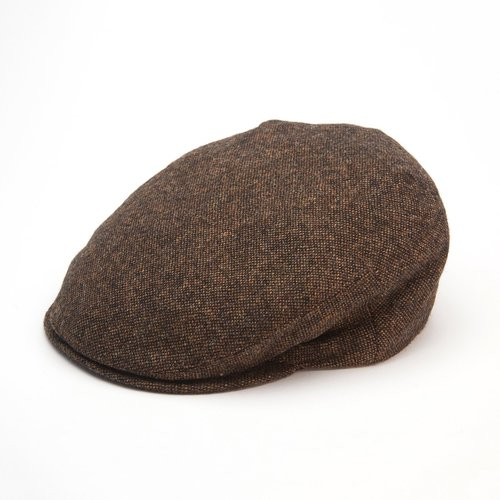 Jonathan Richard Jonathan Richard Donegal Tweed Cap - Brown County Cap