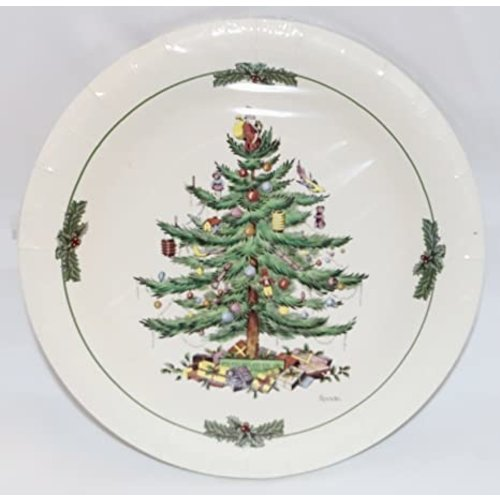 Spode 8 Coated Luncheon/Dessert Plates - Christmas Tree