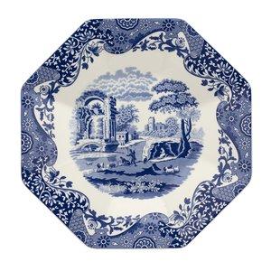 "Spode Blue Italian Octagonal  Platter 14"""