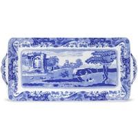 """Spode Blue Italian Sandwich Tray 13"""""""