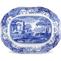 Spode Blue Italian Oval Platter 35cm