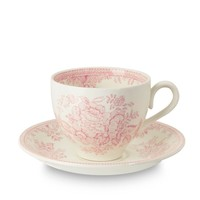 Asiatic Pheasants Pink Teacup and Saucer