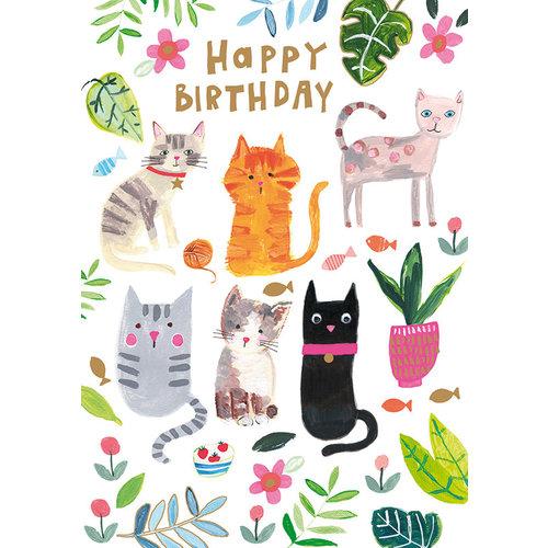 Paper Salad Happy Birthday (Cats) card